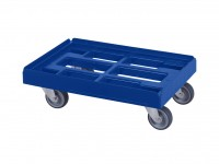 Chariot de transport bleu - 600x400mm - chapes galvanisées 52.TR6040.4.H