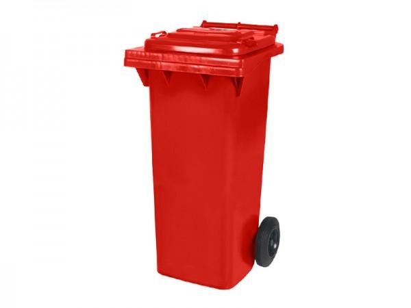 Conteneur à déchets sur 2 roues - 80 litres - rouge
