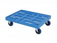 Chariot de transport bleu - 800x600mm 52.TR8060.2.L