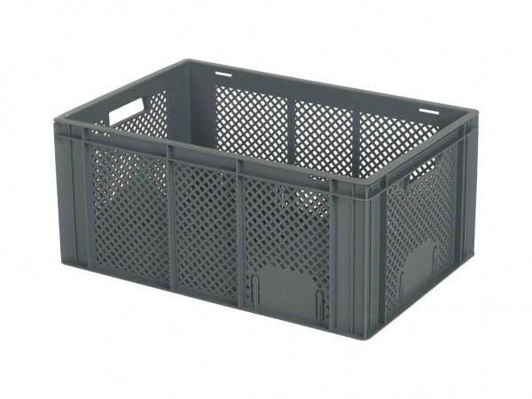 Caisse gerbable - 600x400xH274mm - gris