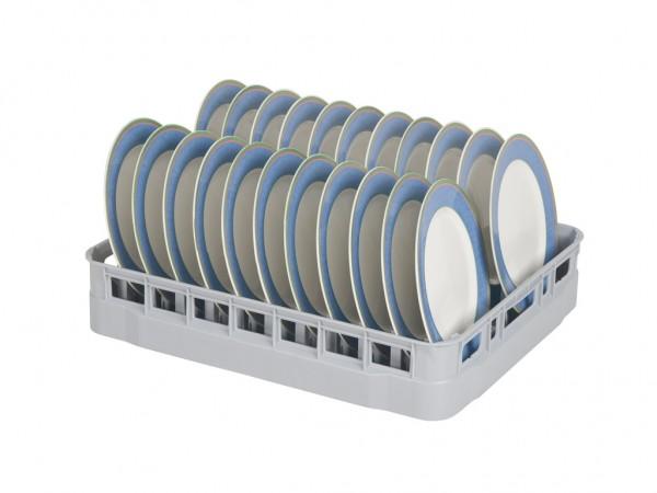 Casier à assiettes 600x500mm - pour 22 assiettes - gris