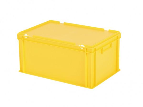 Bac gerbable avec couvercle - 600x400xH295mm - jaune