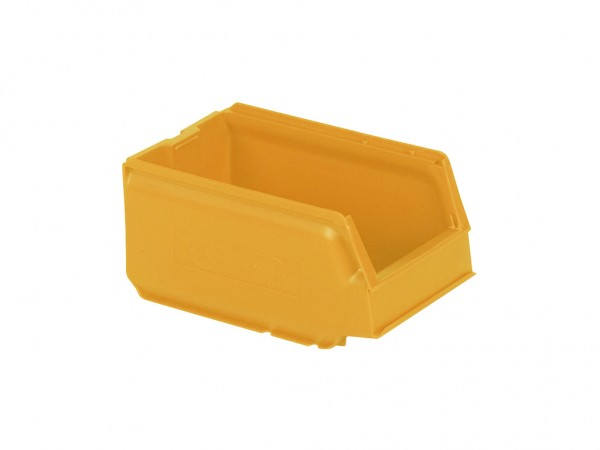 Bac de rangement en plastique - 250x148xH130mm - Orange-jaune