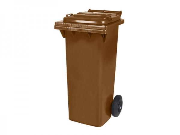 Conteneur à déchets sur 2 roues - 80 litres - brun
