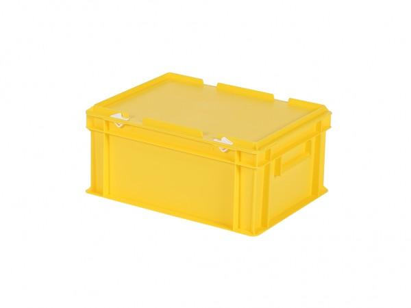 nouveau produit 2ec5b 3553a Bac gerbable avec couvercle - 400x300xH190mm - jaune