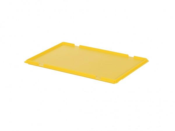Couvercle à charnières 600x400mm - jaune