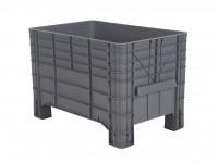 Caisse-palette en plastique - 1040x640mm - sur 4 pieds - gris 72.G3MINI.67.0