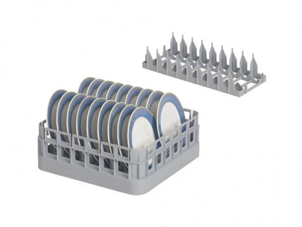 Support amovible pour assiettes - pour casiers bistro 400x400mm & 500x500mm - gris
