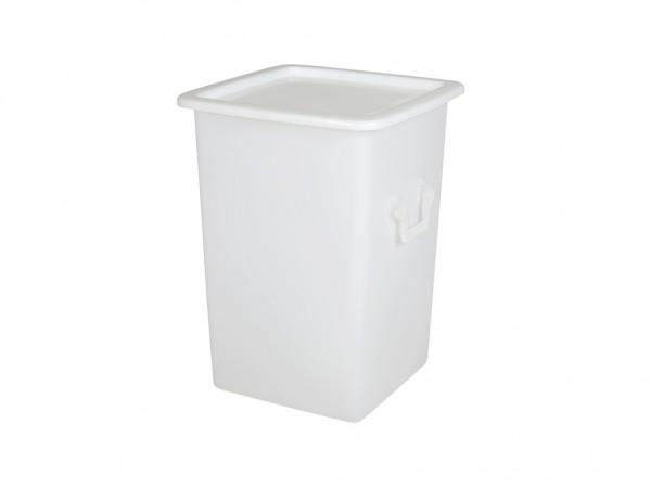 Couvercle à poser 520x520mm pour des conteneurs de transport de 125 L - blanc naturel