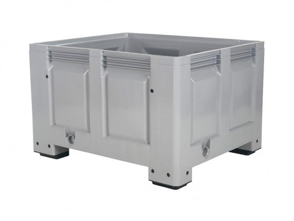 Caisse-palette en plastique - 1200x1000mm - sur 4 pieds - gris