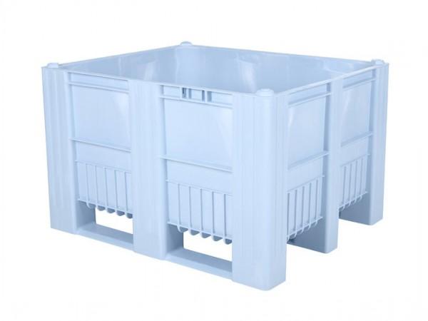 Caisse-palette en plastique - 1200x1000mm - 3 semelles - bleu clair