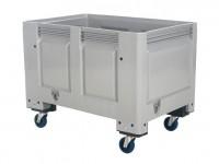 Caisse-palette en plastique - 1200x800mm - sur roues - gris 4403.105.554