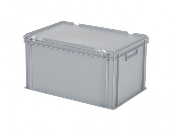 Bac gerbable avec couvercle - 600x400xH335mm - gris