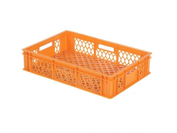 Caisse gerbable - 600x400xH130mm - orange