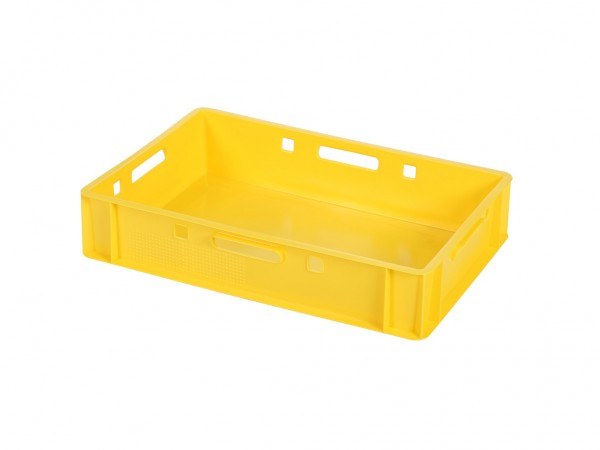 Bac gerbable E1 - 600x400xH125mm - jaune