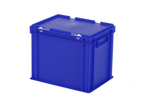 Bac gerbable avec couvercle - 400x300xH335mm - bleu