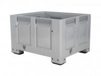 Caisse-palette en plastique - 1200x1000mm - sur 4 pieds - gris 4401.100.554