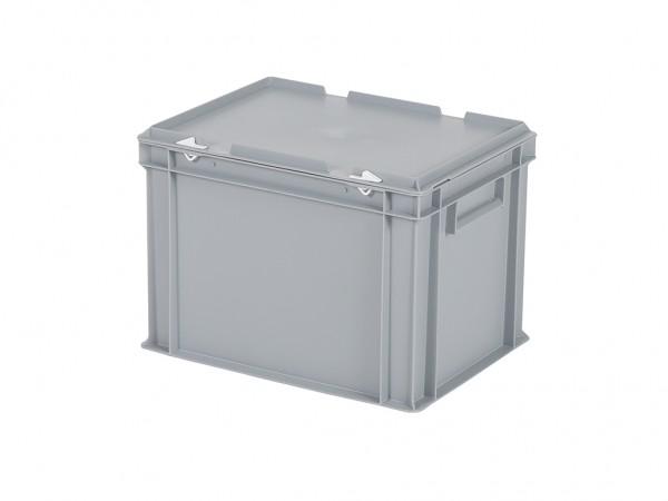 Bac gerbable avec couvercle - 400x300xH295mm - gris