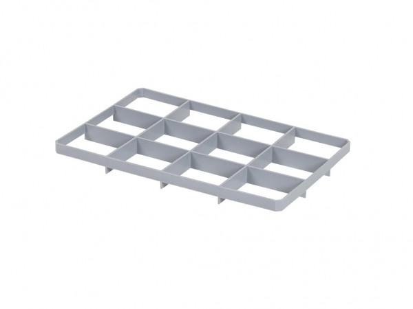 Cloisonnement en bas 12 cases pour caisse gerbable – format de case 137 x 117 mm