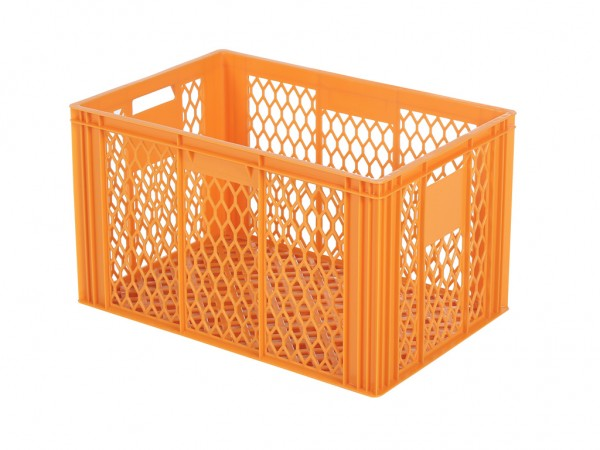 Caisse gerbable - 600x400xH349 mm - orange