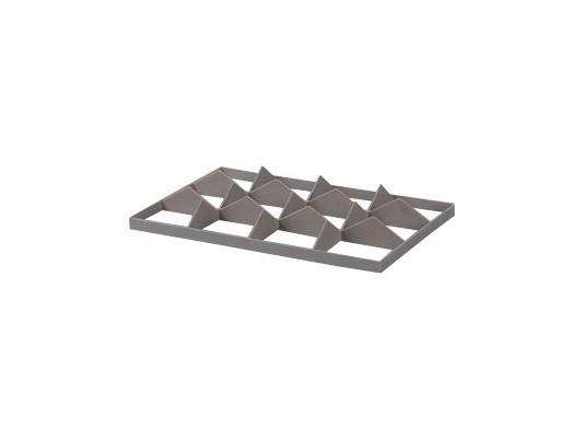 Jeu de cloisonnements 12 cases pour caisse gerbable - format de case 137 x 117 mm