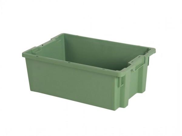 Bac gerbable emboîtable - 600x400xH220mm - vert