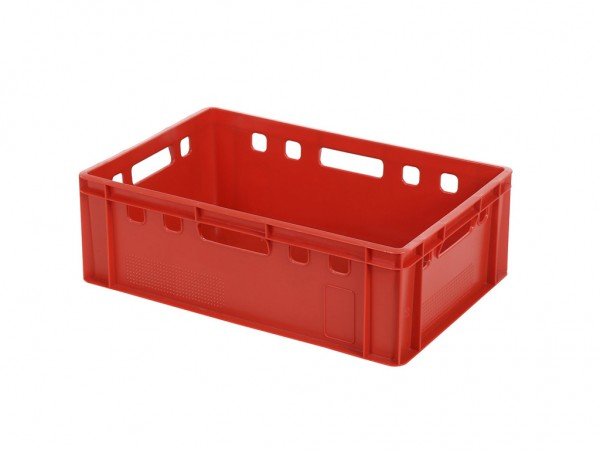 Bac gerbable E2 - 600x400xH200mm - rouge