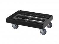 Chariot de transport noir - 600x400mm - fourches galvanisées 52.TR6040.4.K