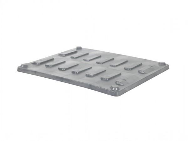 Couvercle à poser 1200x1000mm pour caisses-palettes CB3 - gris