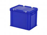 Bac gerbable avec couvercle - 400x300xH335mm - bleu 30.432.DB.3
