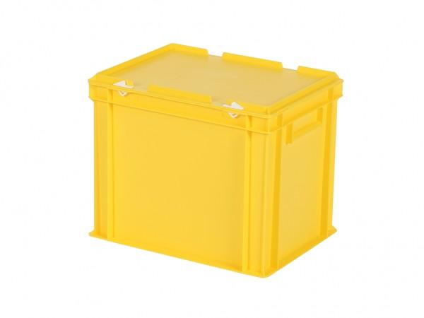 Bac gerbable avec couvercle - 400x300xH335mm - jaune