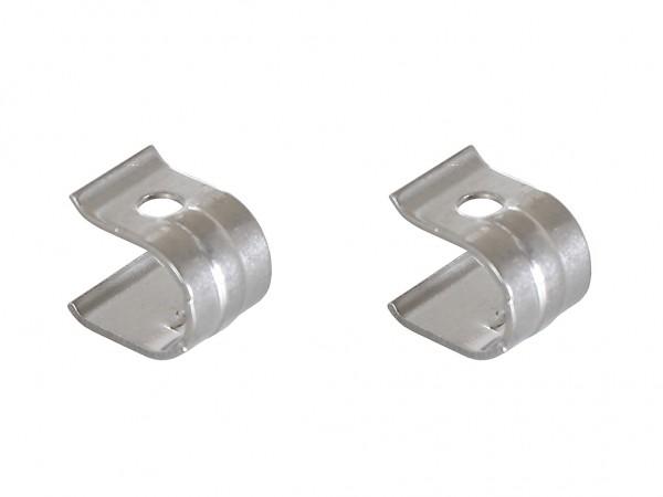 Set de renforts de charnière en acier inoxydable - 2 pièces