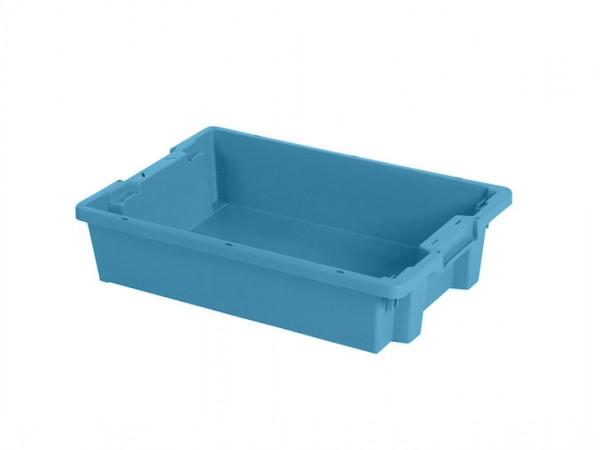 Bac gerbable emboîtable - 600x400xH120mm - bleu