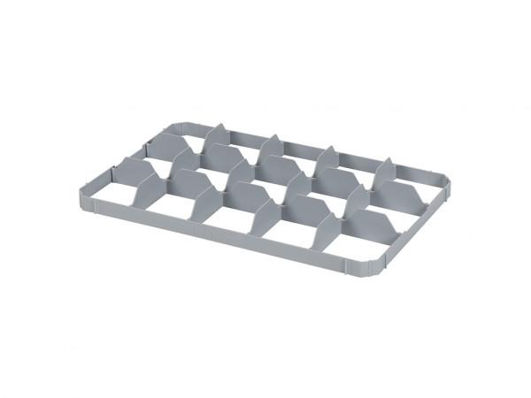 Cloisonnement en bas 15 cases pour caisse gerbable – format de case 116 x 109 mm
